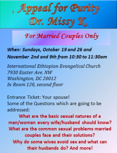 Flyer for Marriage Class 2014 Fall