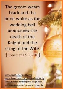 The groom wears black